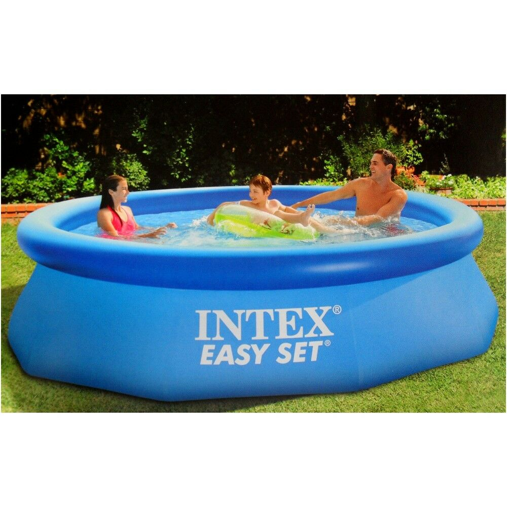 intex swimming pool easy set 244 x 76 cm 28112np ebay. Black Bedroom Furniture Sets. Home Design Ideas