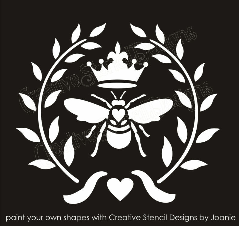 Stencil 10 Quot French Bee Wreath Royal Fleur Crown Shabby