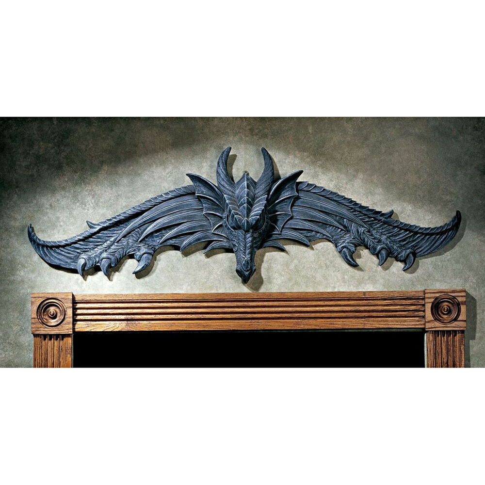 Design toscano the hardwick dragon wall d cor ebay for Design tuscany