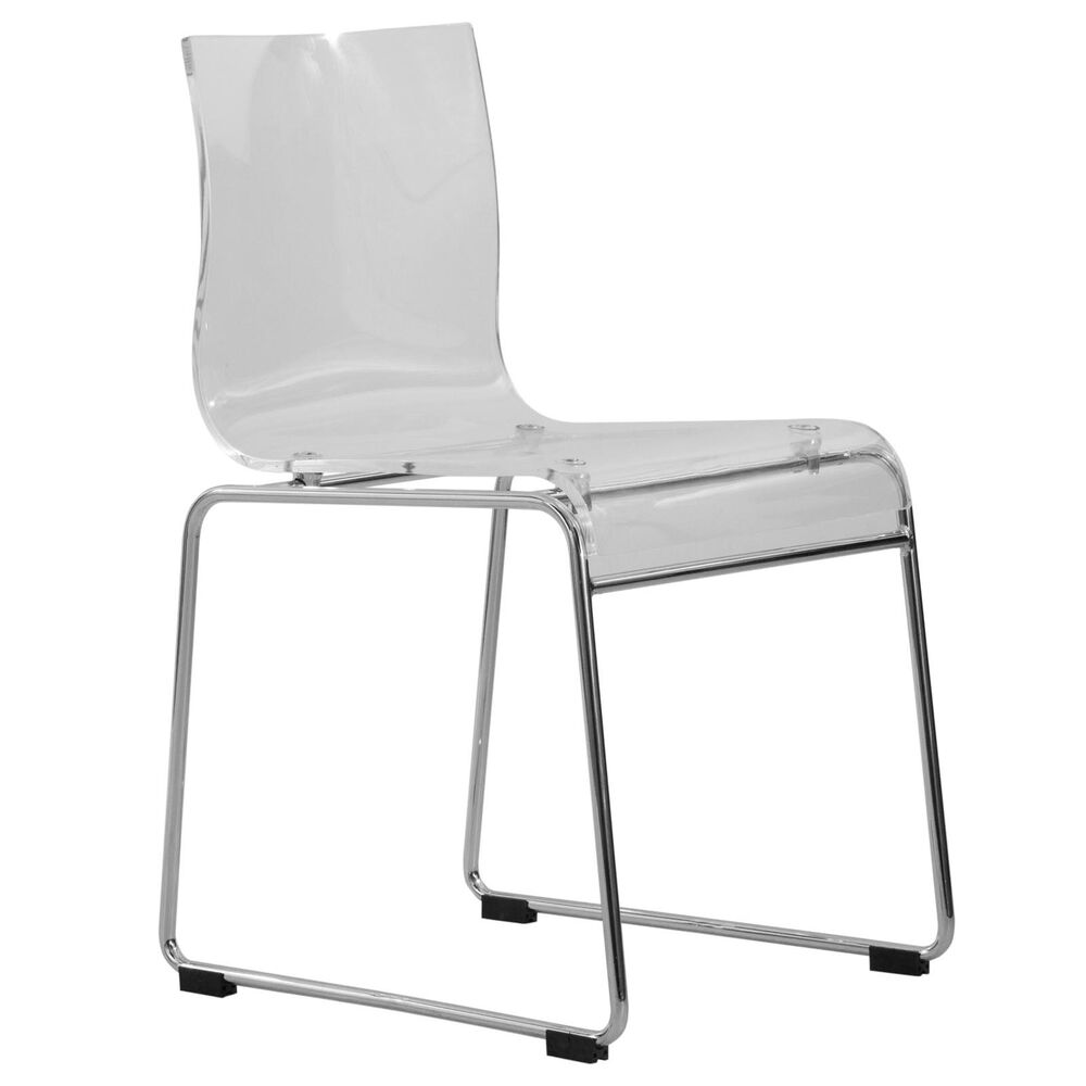 Lima Modern Acrylic Chair In Clear Ebay