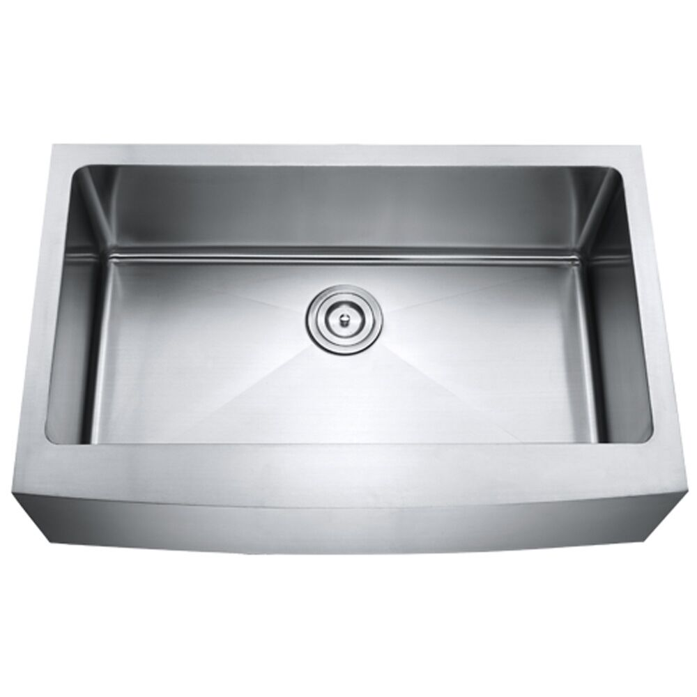 ... Apron Front Stainless Steel Single Bowl Farmhouse Kitchen Sink eBay
