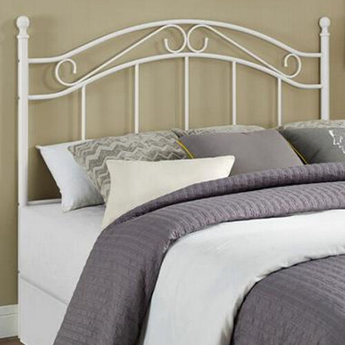headboards for full size beds fits queen too metal white headboard only bedroom ebay. Black Bedroom Furniture Sets. Home Design Ideas