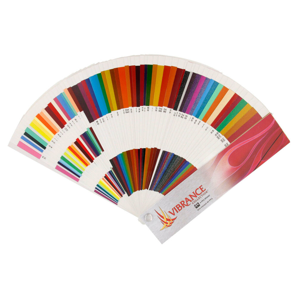 Ppg vibrance custom paint color charts chips auto car ebay for Paint color chips