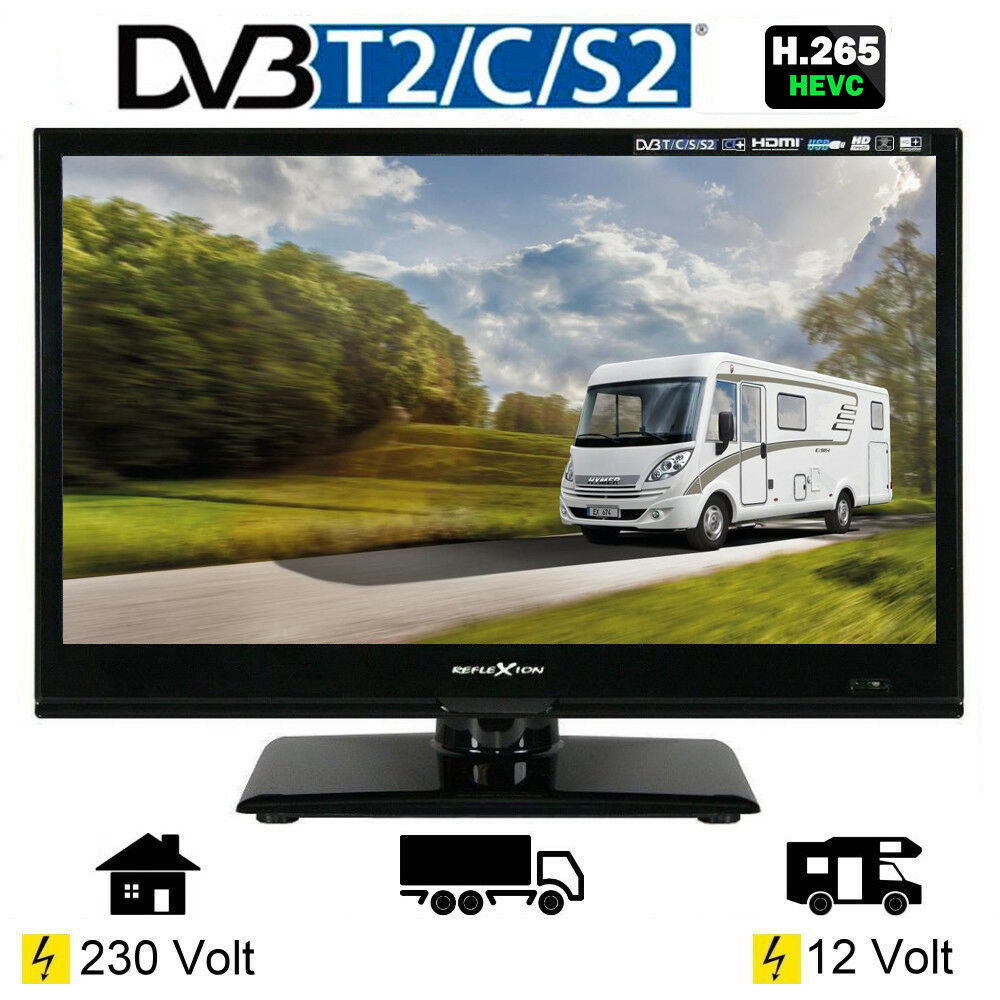 reflexion led167 led tv 15 6 zoll 39 6 cm fernseher dvb s2 c t2 12 230 volt 4260035674201 ebay. Black Bedroom Furniture Sets. Home Design Ideas