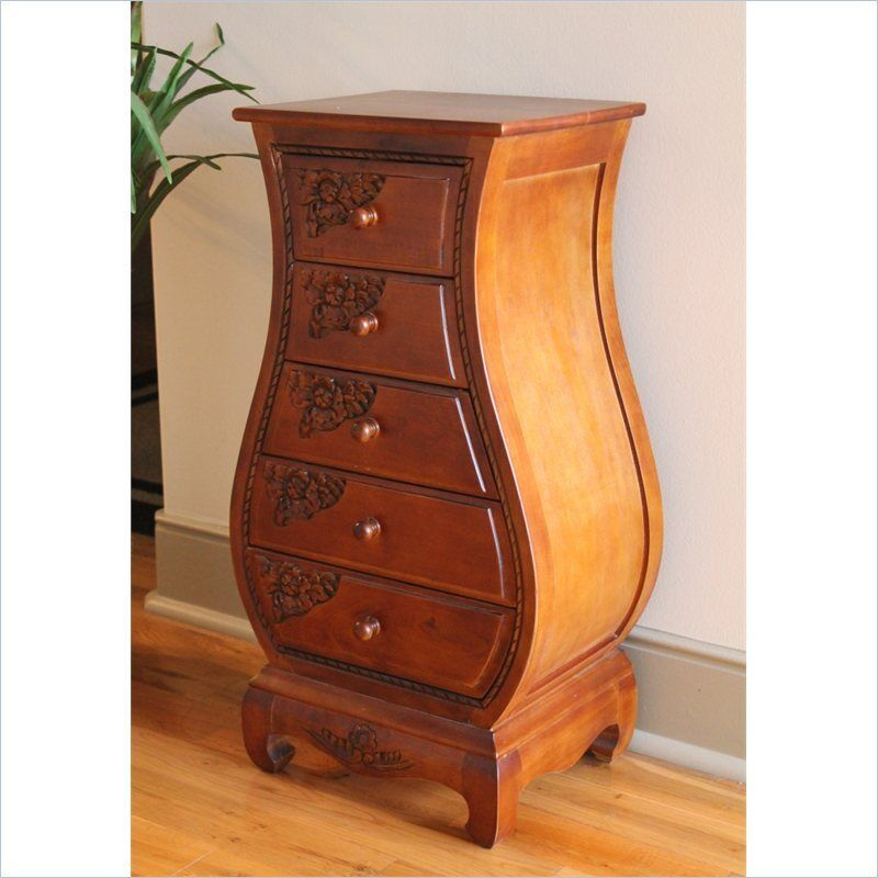 International caravan windsor drawer bombe chest in