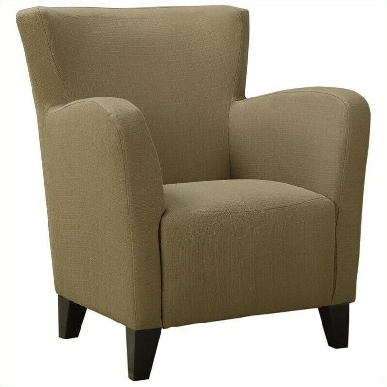 fabric club chair monarch fabric club chair chairs accent solid transitional 15176 | s l1000