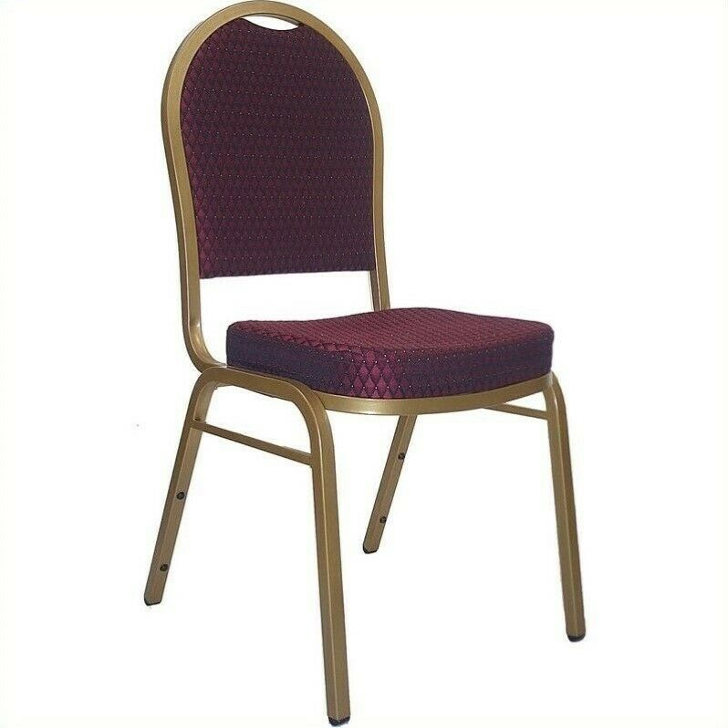 Details About Flash Furniture Hercules Dome Back Banquet Stacking Chair In  Burgundy
