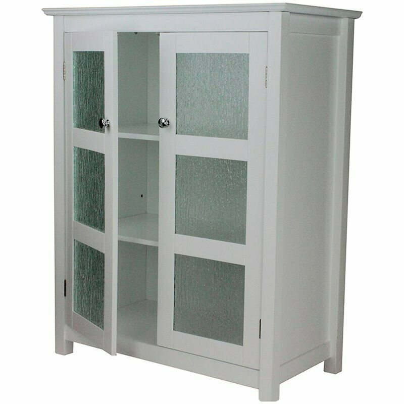 Elegant Home Fashions Connor 2 Door Floor Cabinet In White