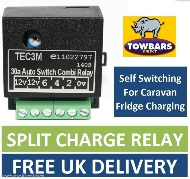 Split Charge Relay Wiring Diagram : Self switching smart relay for s pin towbar wiring