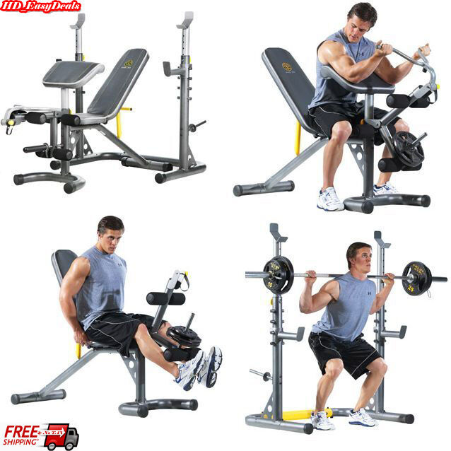 Home Weight Lifting Bench Machine Press Exercise Weights Rack Fitness Workout Ebay