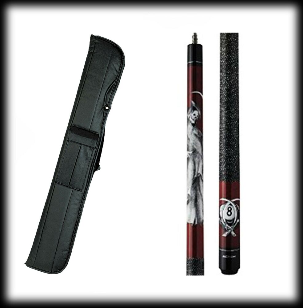 New action adv102 pool cue stick burgundy w grim reaper - Action pool cue cases ...