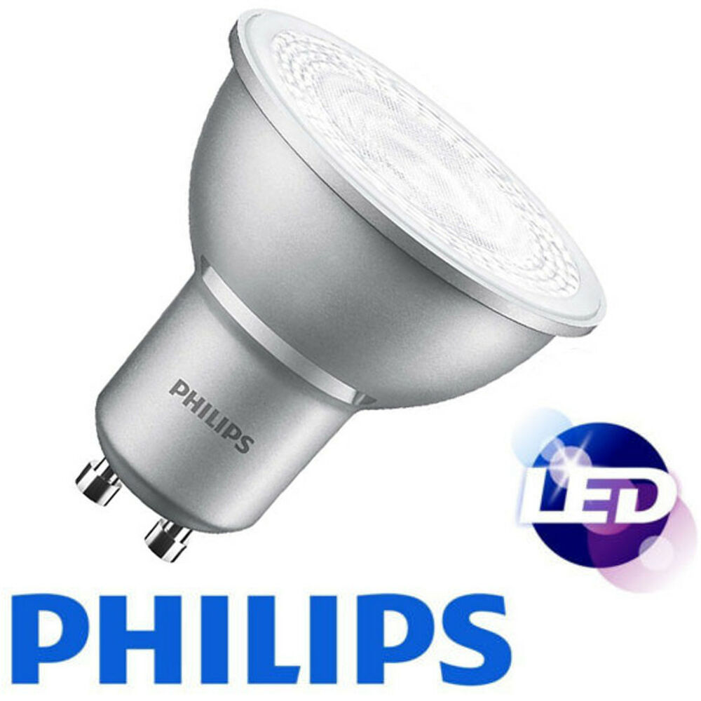 philips led gu10 light bulb 4 3w 50watt spotlight bulbs white a energy saver ebay. Black Bedroom Furniture Sets. Home Design Ideas