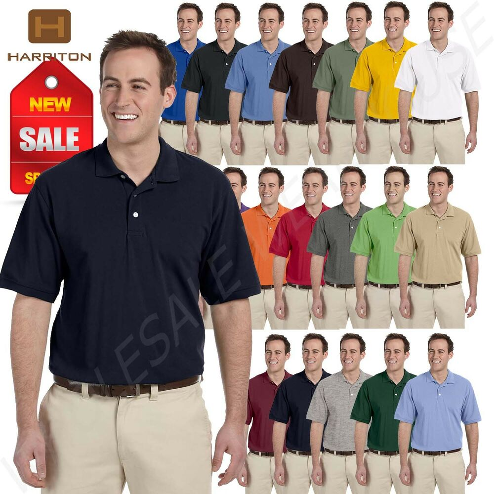 New Harriton Easy Blend Short Sleeve Big Size Golf Polo