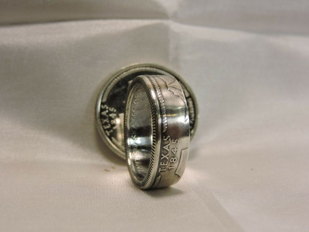 Texas State Silver Coin Ring