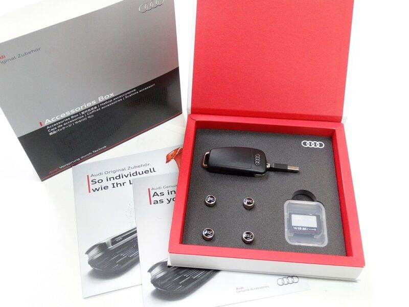 original audi geschenkbox usb stick 8gb sd karte16 gb. Black Bedroom Furniture Sets. Home Design Ideas