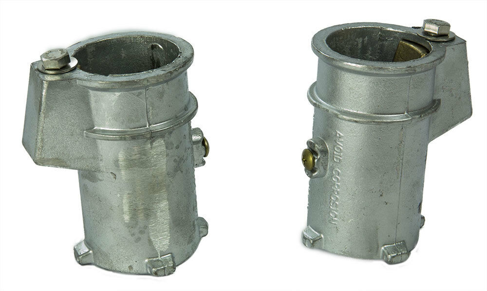 Set Of 2 Ladder Anchor Sockets For In Ground Swimming Pool