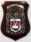 STYLE to VARLEY Family Name Crest on HANDPAINTED PLAQUE - Coat of Arms