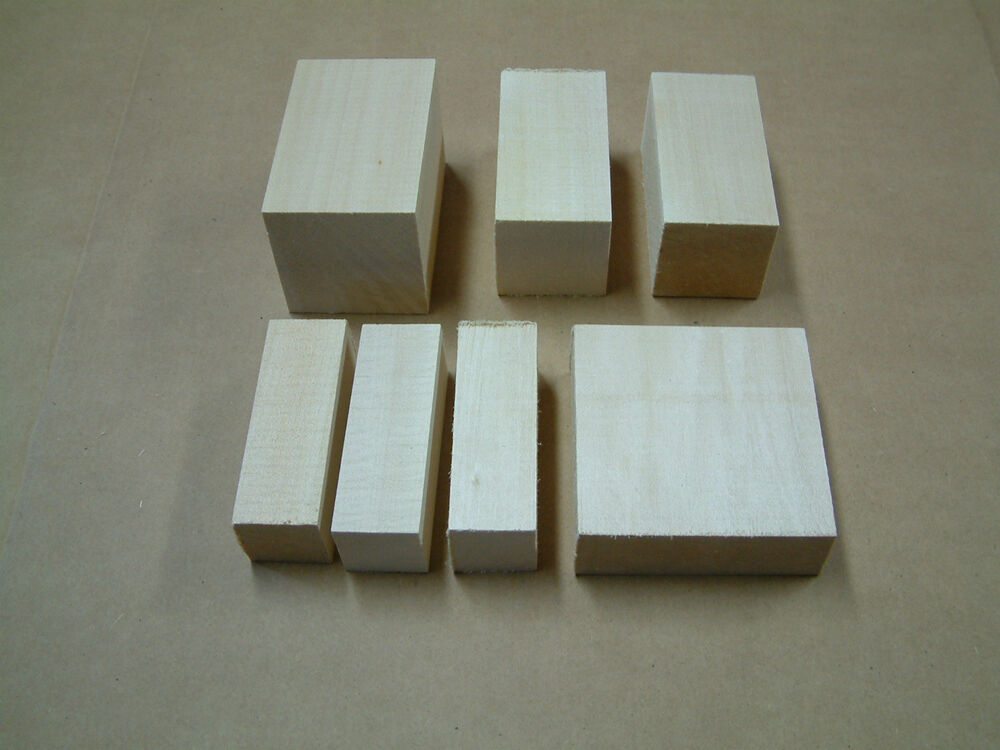 Basswood blocks pieces lumber squares variety sizes