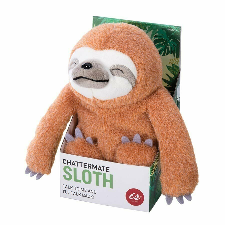 Chattermates Talking Sloth Copies Everything You Say