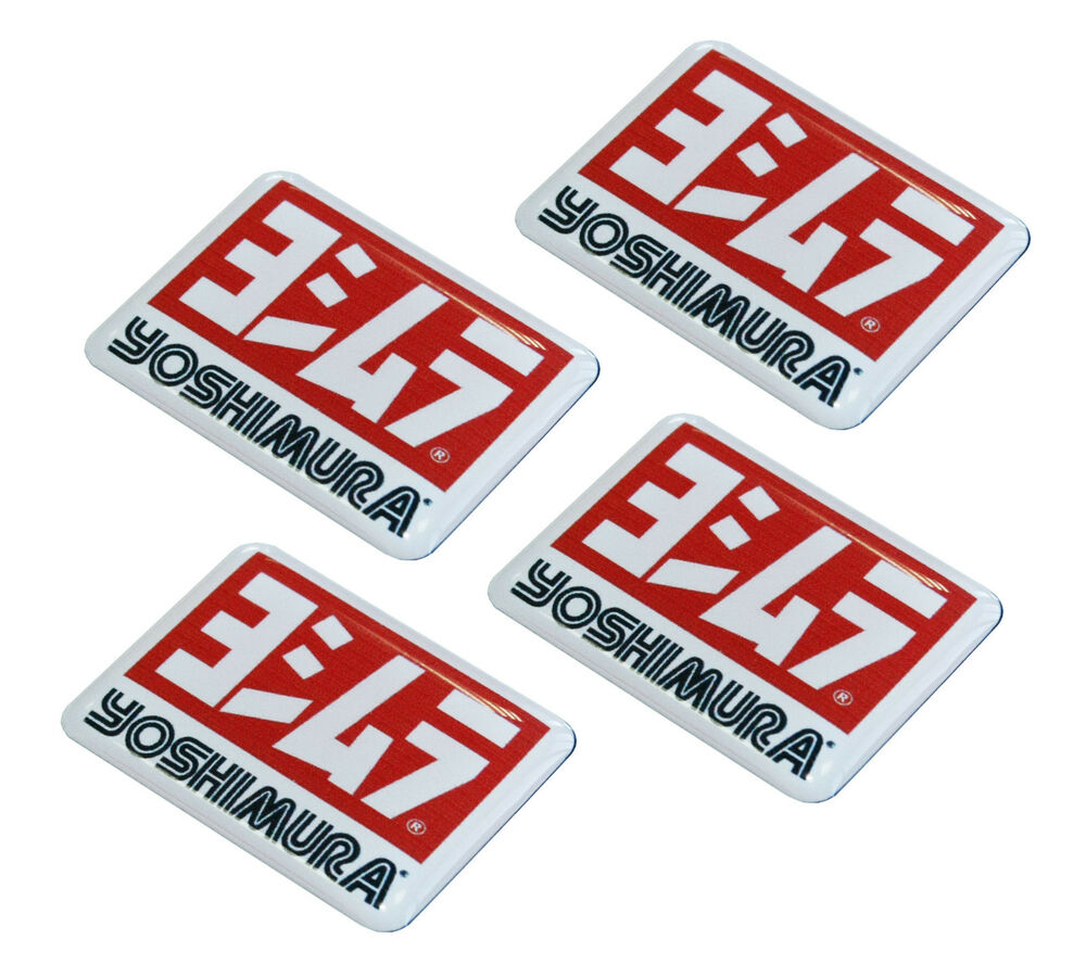 4 aufkleber 3d stickers yoshimura auto motorrad rennsport racing suzuki e 108 ebay. Black Bedroom Furniture Sets. Home Design Ideas