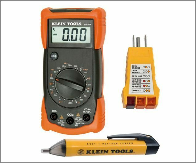 Electrical Test Meters : Klein tools electrical test kit receptacle and