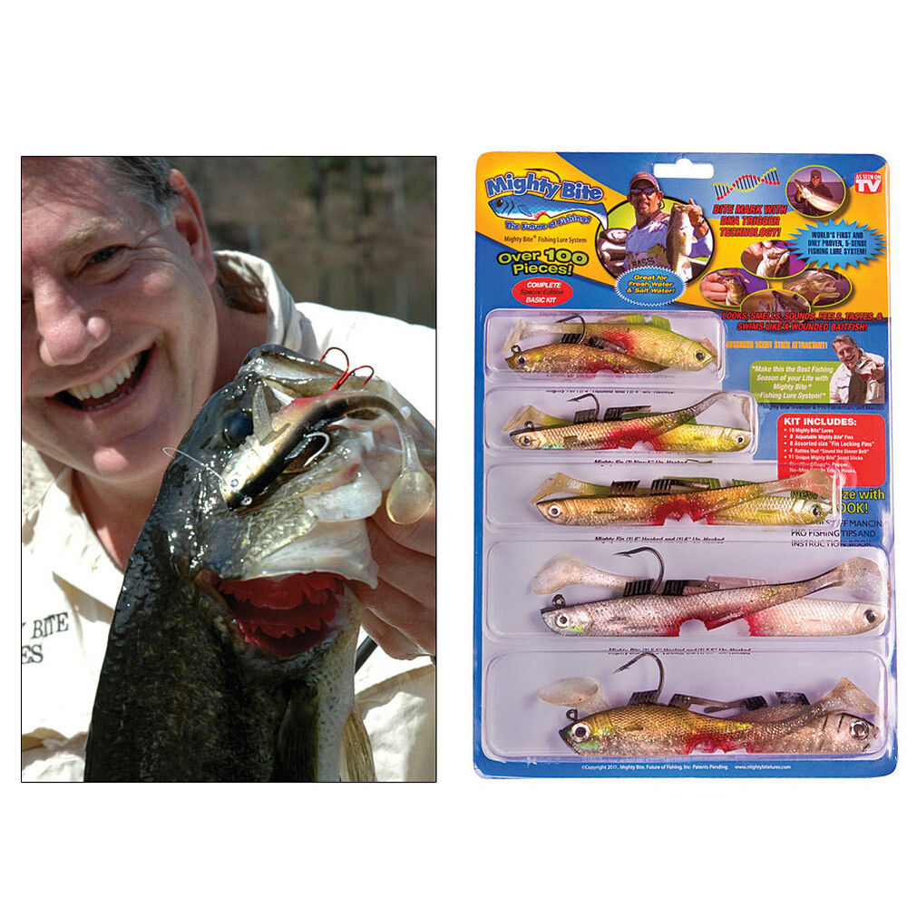 New mighty bite special edition kit lures as seen on tv for Fishing lure as seen on tv
