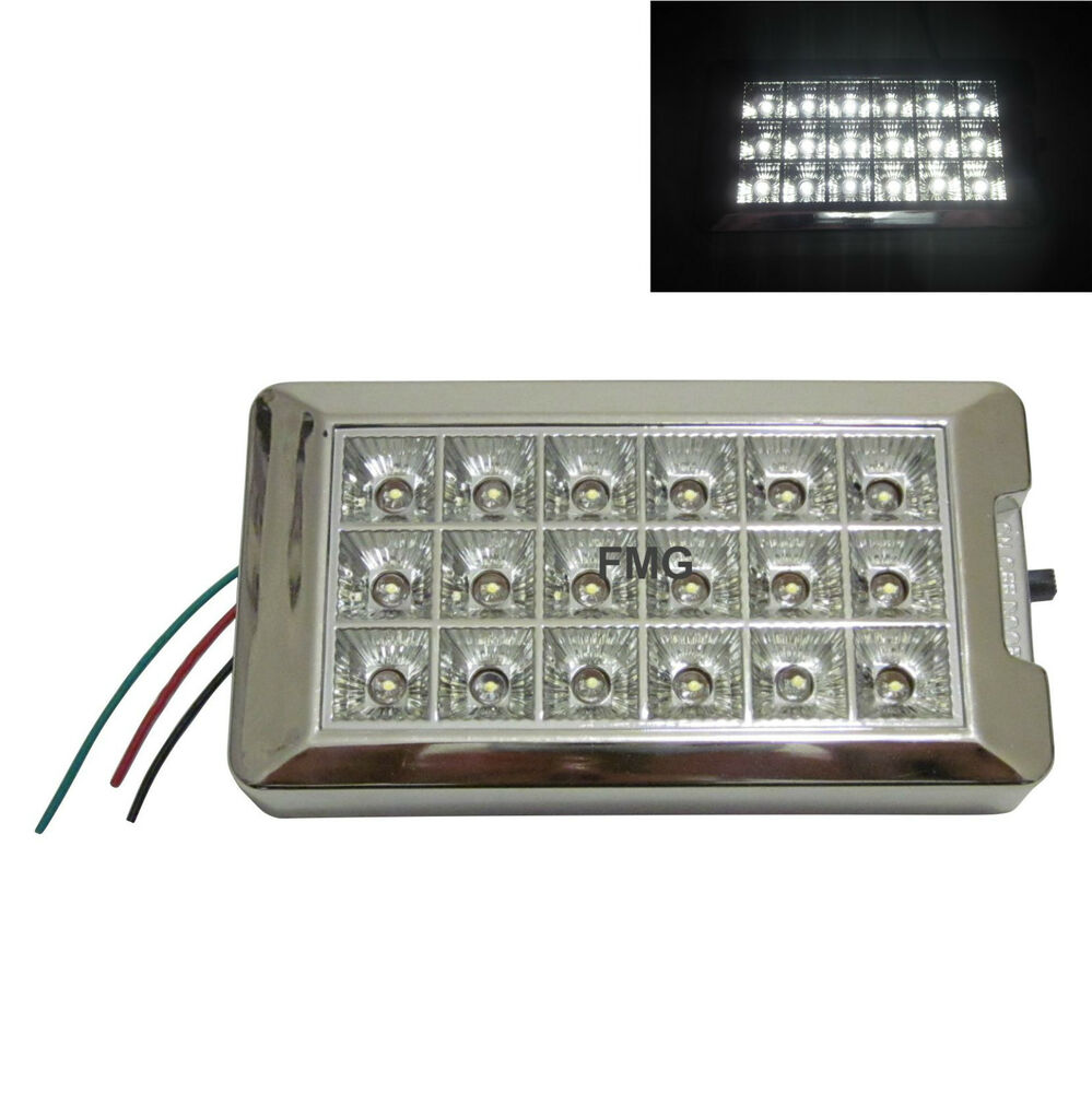 18 led panel auto innenraum beleuchtung 12v lampe taxi transporter camping wei ebay. Black Bedroom Furniture Sets. Home Design Ideas