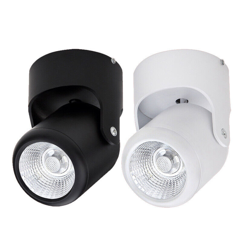 Led Ceiling Spotlight Fixtures: Dimmable/N LED COB Ceiling Spot Light Angle Adjustable