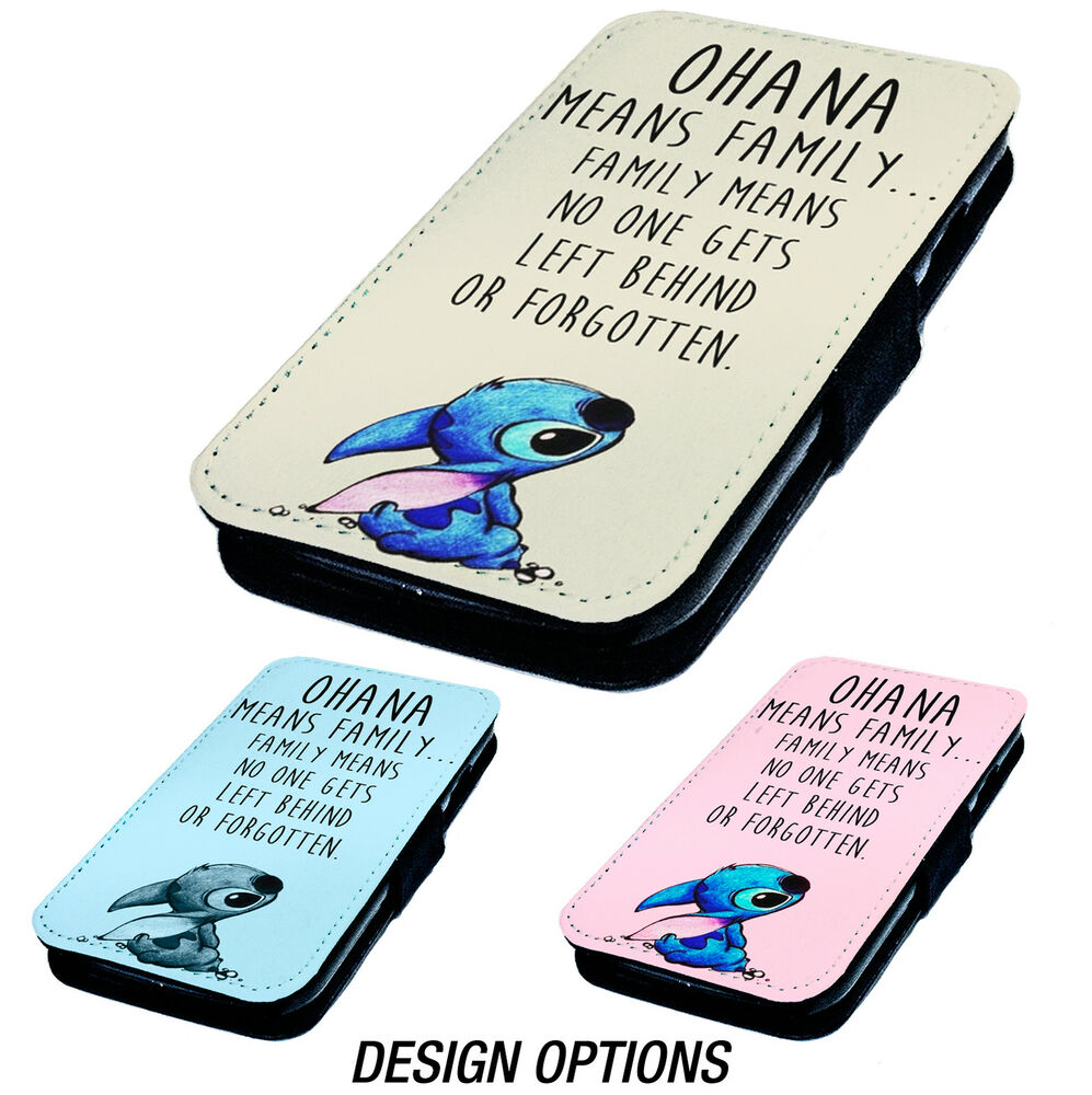 Ohana means printed faux leather flip phone cover case for What does it mean to flip a house