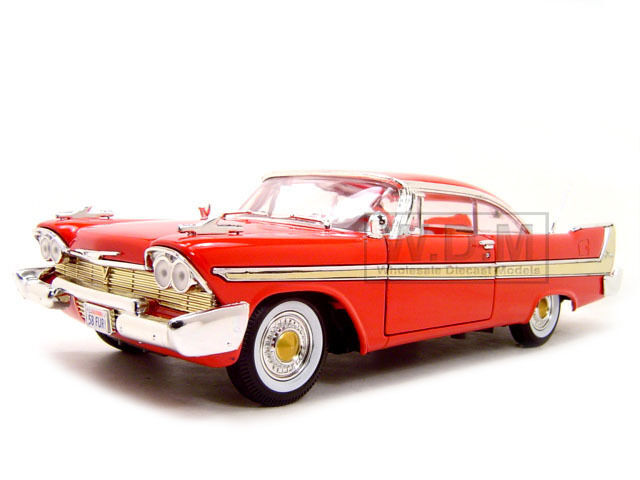 1958 plymouth fury red 1 18 diecast model car by motormax. Black Bedroom Furniture Sets. Home Design Ideas