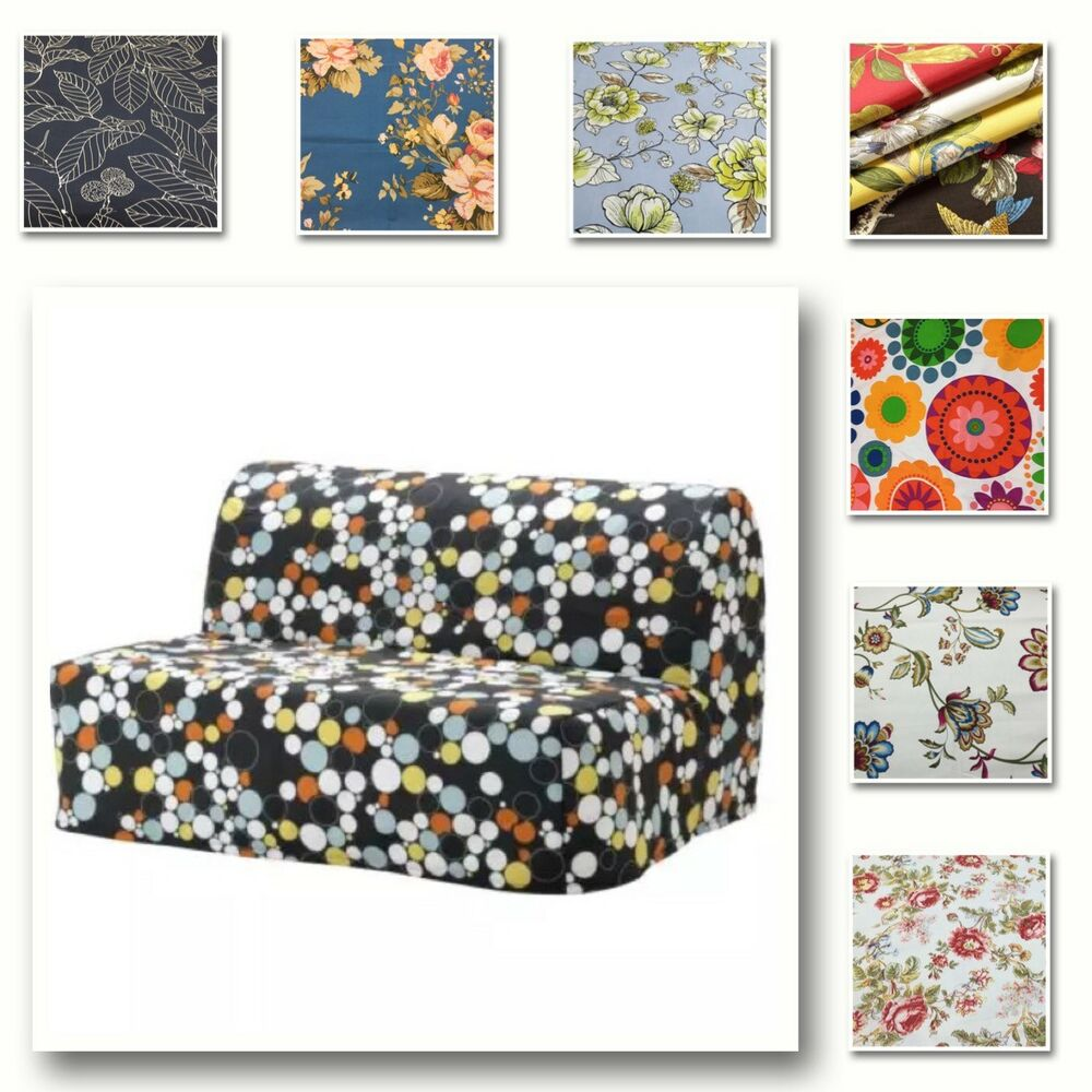 Custom Made Cover Fits Ikea Lycksele Sofa Bed Patterned