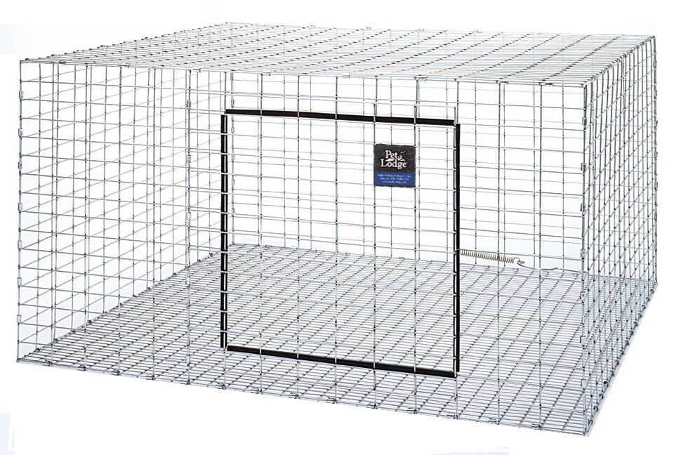 One pet lodge 30 x30 wire rabbit cage for meat or pet for Outdoor rabbit hutch kits