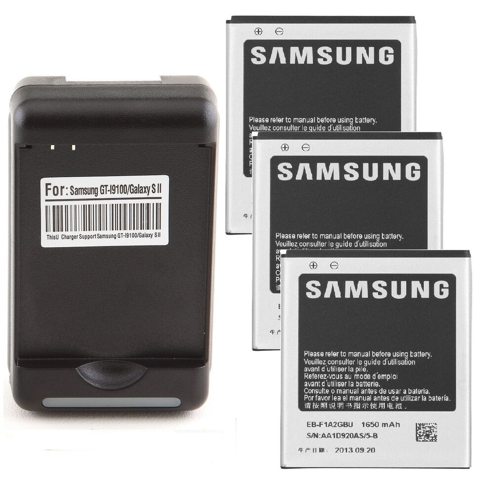 1650mAh Battery + Wall Cradle Charger for Samsung Galaxy S II S2 S 2 i777 i9100 | eBay
