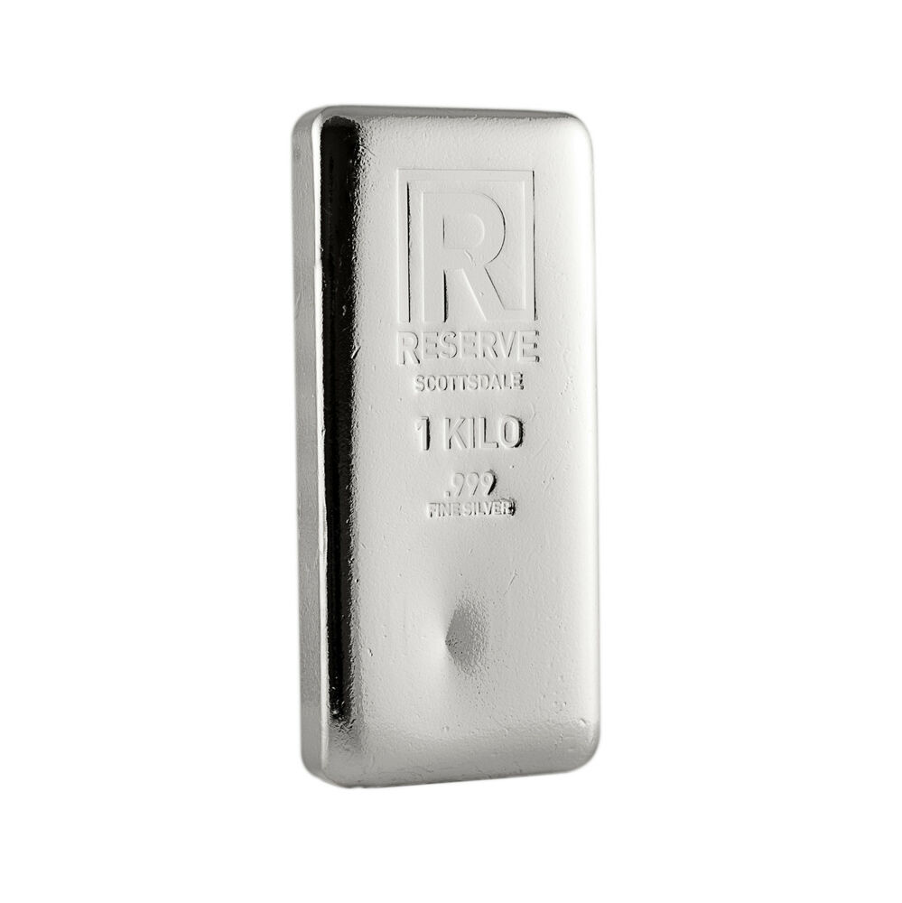 1 Kilo Silver Bar Reserve By Scottsdale Mint 999 Silver
