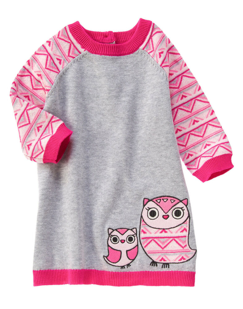 Nwt gymboree fair isle friends owl sweater dress 18 24 months baby