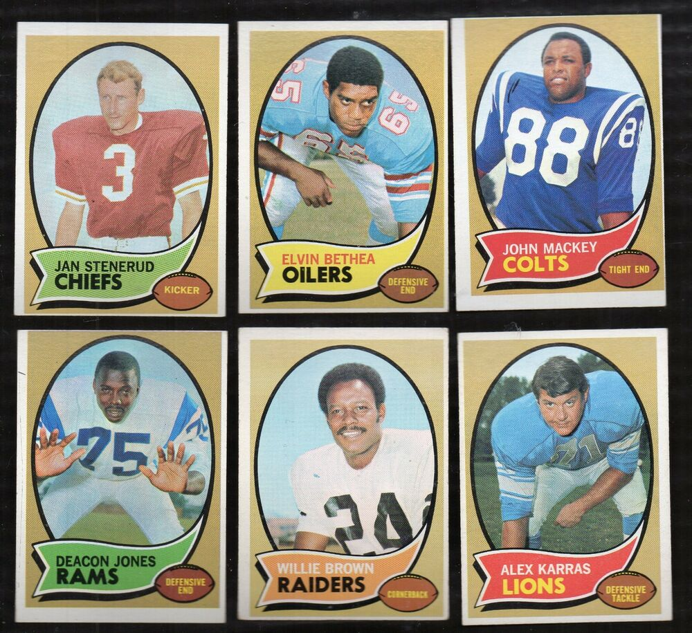 1970 Topps Football Finish Your Set Lot Pick 20 EX-MT To