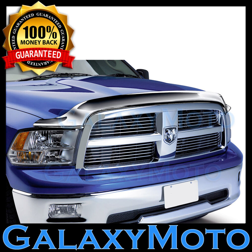 09 16 dodge ram 1500 truck chrome bug shield air deflector hood guard protector ebay for Dodge ram exterior accessories