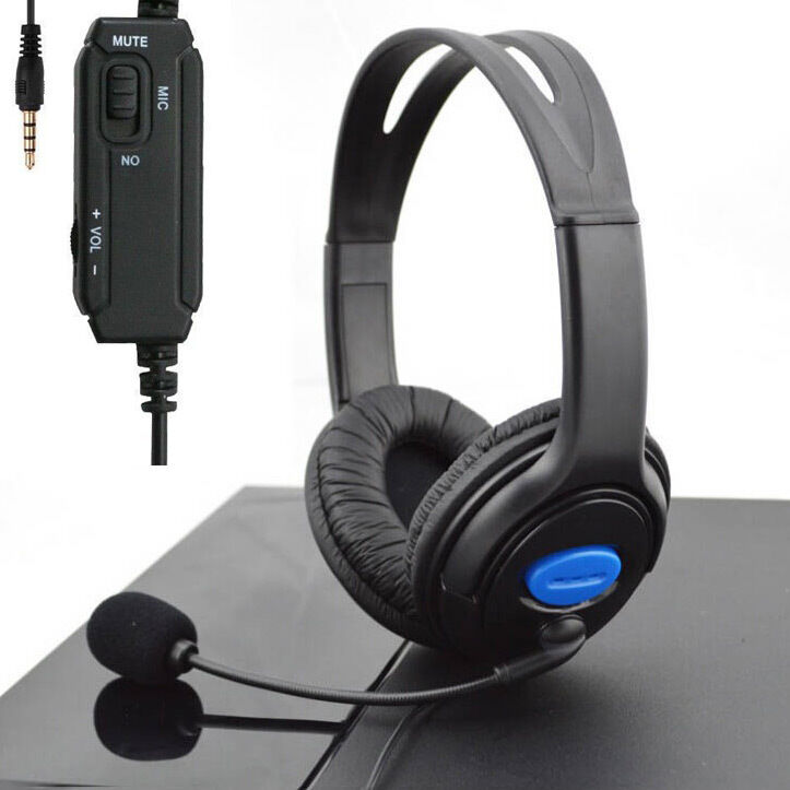 stereo wired gaming headsets headphones with mic for ps4. Black Bedroom Furniture Sets. Home Design Ideas