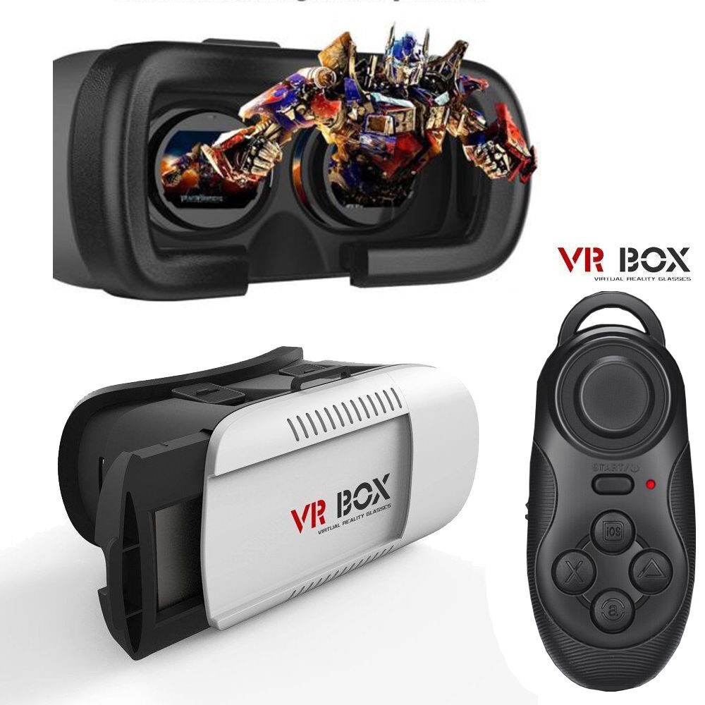 32d3f0c7703f Details about Virtual Reality VR Headset 3D Glasses With Remote for Android  IOS iPhone Samsung