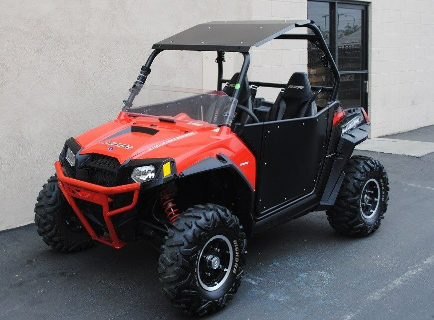 2008 2017 rzr 800 rzr s 800 rzr xp 900 aluminum roof with led bar mounts ebay. Black Bedroom Furniture Sets. Home Design Ideas