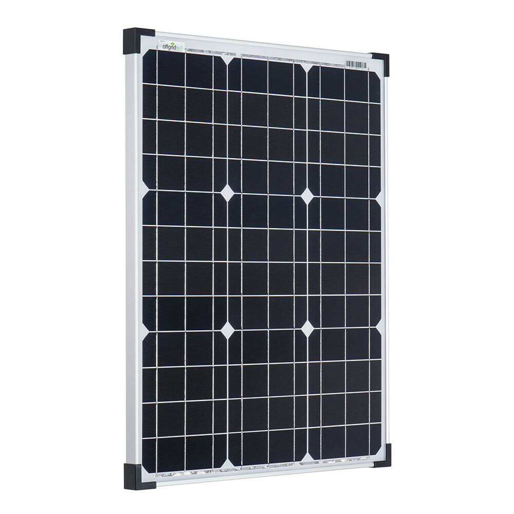 offgridtec 50w 12v monokristallines solarpanel solarzelle solarmodul 50 watt ebay. Black Bedroom Furniture Sets. Home Design Ideas