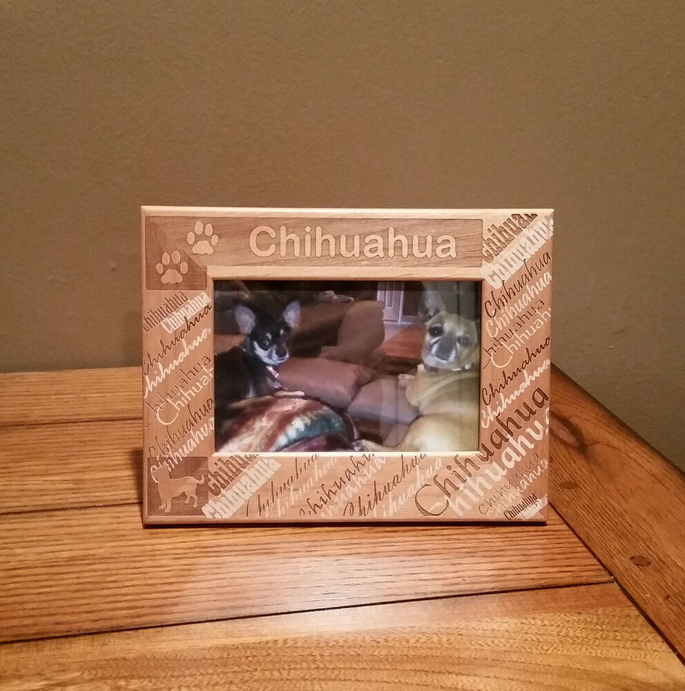 laser engraved pet picture frame chihuahua can be. Black Bedroom Furniture Sets. Home Design Ideas