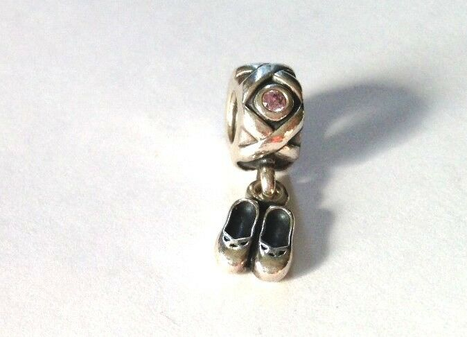 authentic pandora 169 sterling silver ballet slippers charm