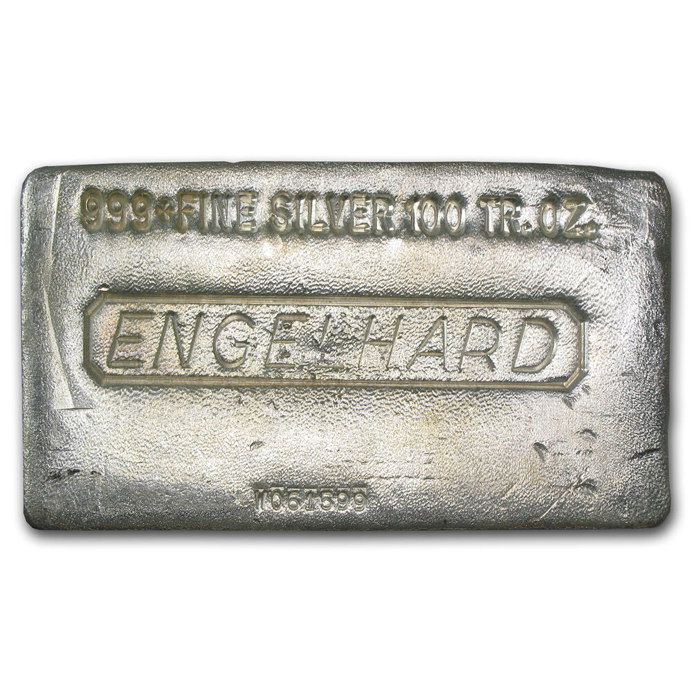 100 Oz Engelhard Silver Bar Poured Silver Bar Sku