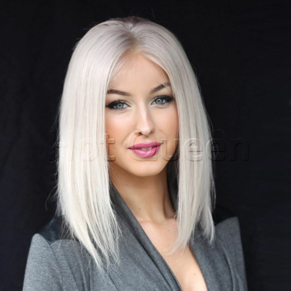Hot Platinum Blonde Brazilian Human Hair Wigs Remy Full