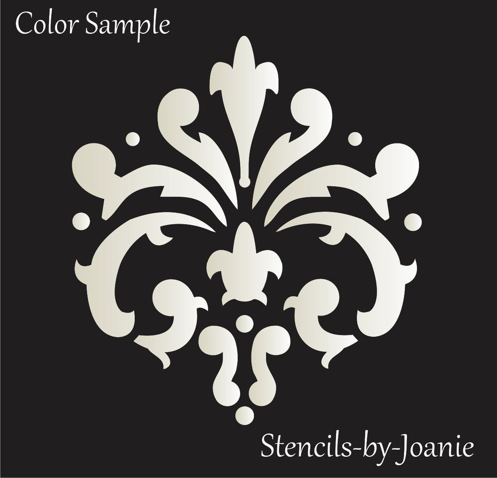 Stencil Fleur Damask Paris French Cottage Chic Wall Art