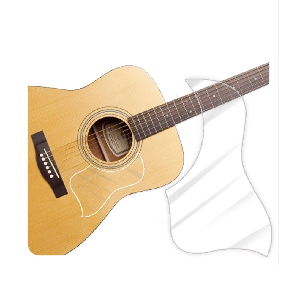 guitar accessories acoustic guitar pickguard style clear glossy ebay. Black Bedroom Furniture Sets. Home Design Ideas