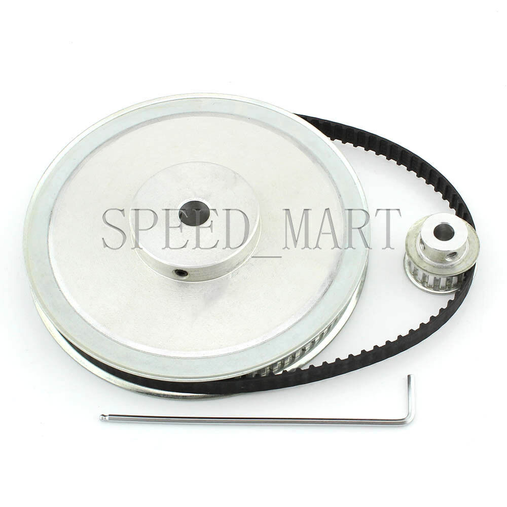 Xl Pulleys And Belts : Xl t timing pulley belt set kit reduction ratio
