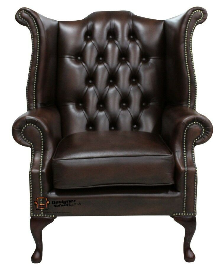 Brand New Chesterfield Queen Anne High Back Wing Chair