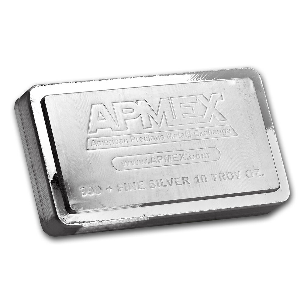 10 Oz Apmex Stackable Silver Bar 999 Fine Sku 83232 Ebay